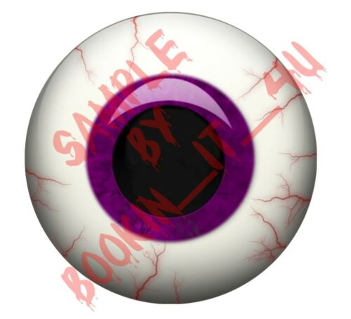 evil vinyl eye decal set-15 sizes to choose from  #1 PURPLE round human