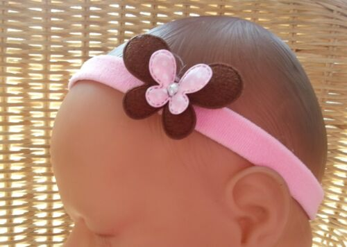BABY GIRL//REBORN DOLL BUTTERFLY BLING HEADBAND VARIOUS COLOURS 0-36 MONTHS