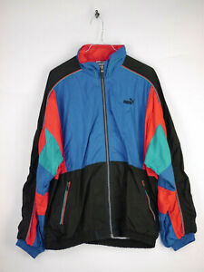 Details zu PUMA Sweatjacke Trainingsanzug Jacke Vintage Retro Herren Gr. L (D7)