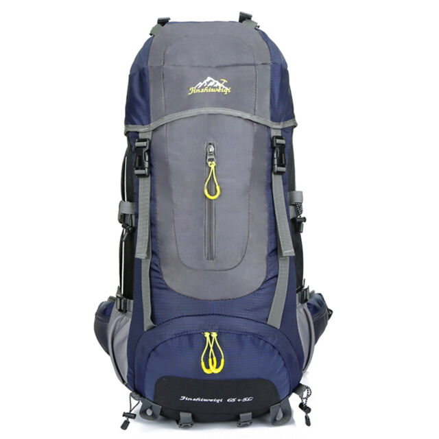 75L Outdoor Hiking Camping Waterproof Travel Luggage Rucksack Backpack Bag