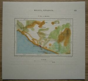 1883-Perron-map-MALACCA-MELAKA-MALAYSIA-203
