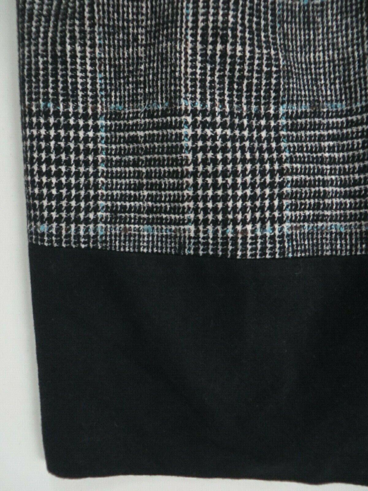 ZARA BASIC Wool blend Tweed Checkered Tartan  Bla… - image 5