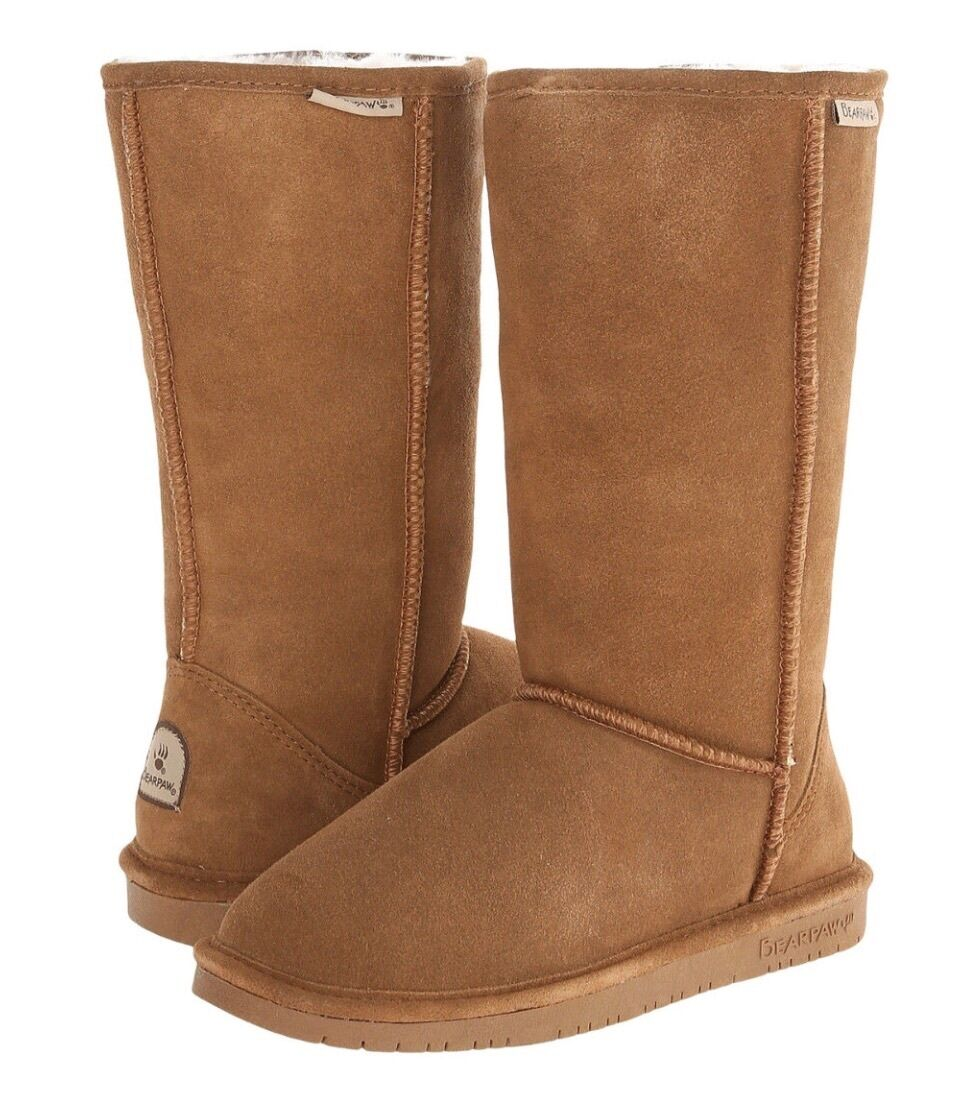 Women Bearpaw Emma Tall Boot Suede 612 Hickory II 100% Authentic Brand New