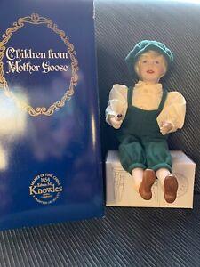 Children-from-Mother-Goose-LITTLE-JACK-HORNER-Porcelain-Doll-NIB-307D-Knowles