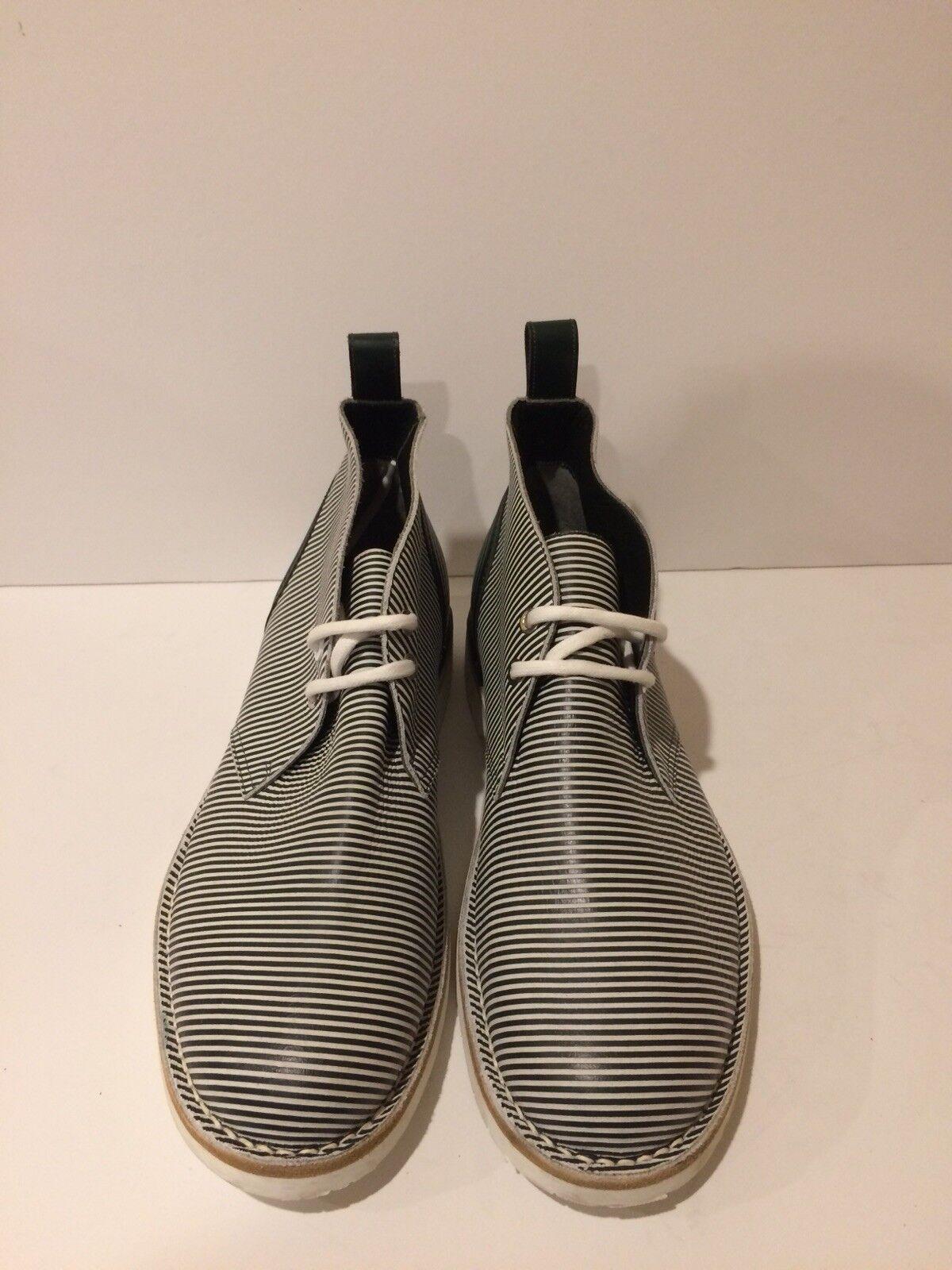 Jimmy Choo New Calf Leather Striped Oxford Ankle stivali (43EU Men's)