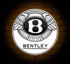 BENTLEY BADGE SIGN LED LIGHT BOX MAN CAVE GARAGE CAR WORKSHOP GAMES ROOM  GIFT