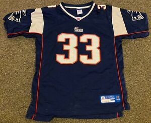 Details about Reebok New England Patriots Kevin Faulk Jersey Football Youth Size XL #33 Rare