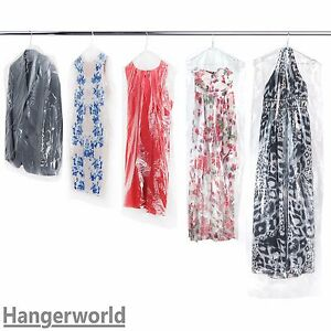 Image Is Loading Hangerworld Clear Polythene Garment Covers Clothes Suit Dress