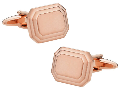 Engravable Rose Gold Cufflinks Direct from Cuff-Daddy