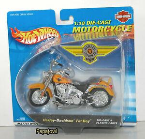 Harley Davidson Fat Boy Motorcycle By Hot Wheels 2000 Release 1 18 Ebay