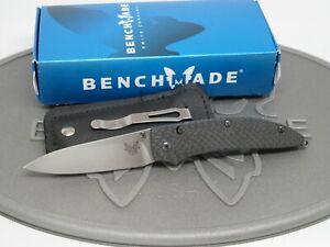 Benchmade 480-1 Shoki Nak-Lok Nakamura M390 Carbon Fiber Small Folding Knife NOS