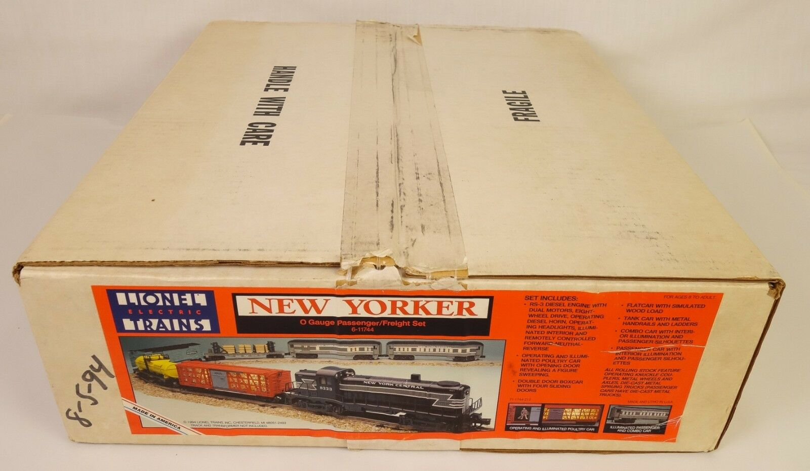 LIONEL  6-11744 NEW YORKER PASSENGER-FREIGHT SET-SEALED IN ORIGINAL BOX