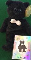 Collecticritters 1999 frankie Frank Sinatra Teddy Bear Bean Bag +card 606/10k