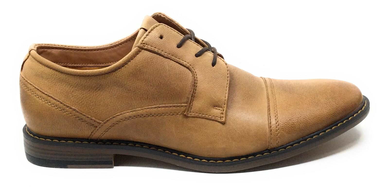 J75 By Jump Mens Paulson Lace Oxford Dress Shoes Tan Leather Size 9.5 M US