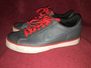 Nike Mens Sweet Classic Leather Tennis Shoes Gray Blue Sz 9.5 318333-034