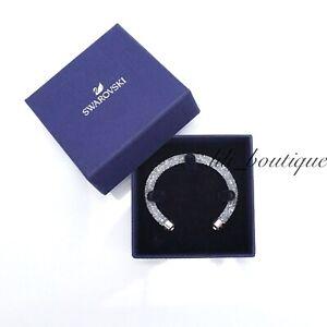 NIB-Swarovski-5255899-Crystaldust-Bangle-Cuff-Bracelet-White-Size-S-5-1-1-5cm
