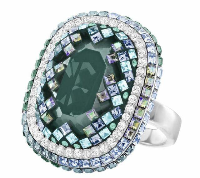 1c038b940c70c New in Box $169 Swarovski Gaia Ring Cocktail Size Green Crystal 52/6/S  55/7/M