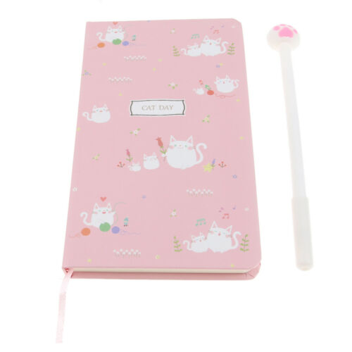 3.9x7.1/'/' Stylish Kitten Hardcover Writing Notebook Pack with Pen
