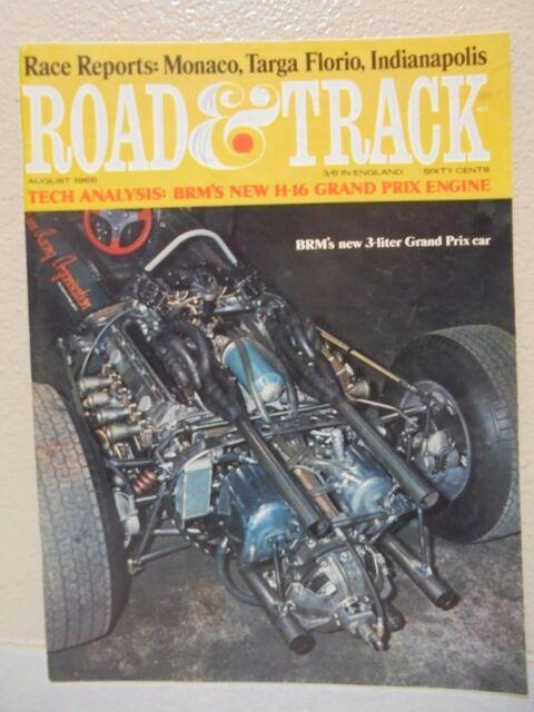 Road And Track MAGAZINE August 1966 BRM's 3 Liter Grand Prix Car Monaco