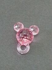 50  MICKEY MOUSE EARS 50 beads acrylic plastic loose beads