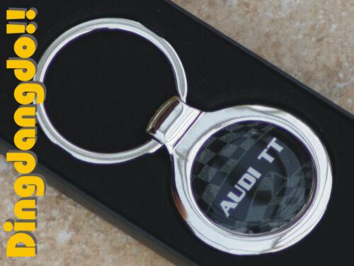 Audi TT Chrome Keyring Key Ring Gift