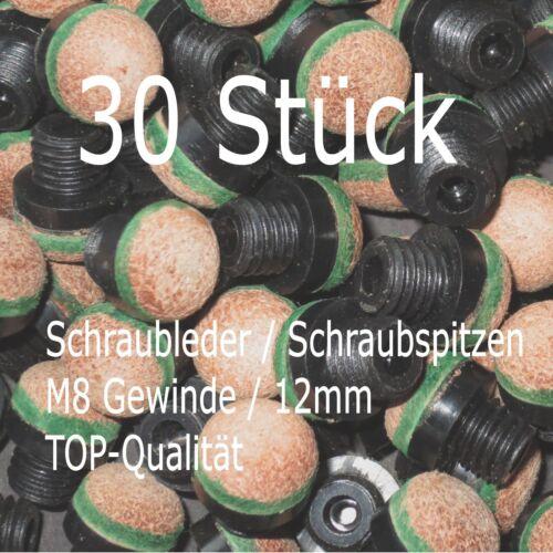 ++ Billard Schraubleder Schraubspitzen M8-Gewinde 12mm kostenloser Versand ++