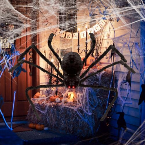 Halloween Hanging Decoration 4ft Giant Realistic Hairy SPIDER Outdoor Yard Decor