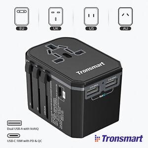 TRONSMART-33W-CE-ADATTATORE-CORRENTE-UNIVERSALE-PRESA-SPINA-2-USB-1-TYPE-C