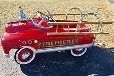 """Vintage Pedal Car Fire Fighter Engine 23 FD No 1 Red Truck 41"""" x 21"""" x 18"""" EUC"""
