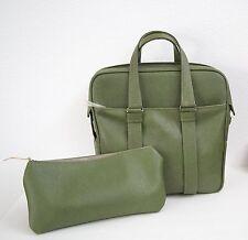 Samsonite FASHIONAIRE Green 2 PC Overnight Carry On/ Tote Train Bag