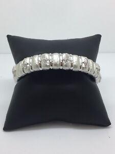 Gabriel-amp-Company-Sterling-and-S-S-Diamond-Bracelet