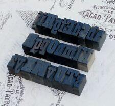 New Listinga Z Mixed Alphabet 106 Letterpress Wooden Printing Blocks Wood Type Vintage