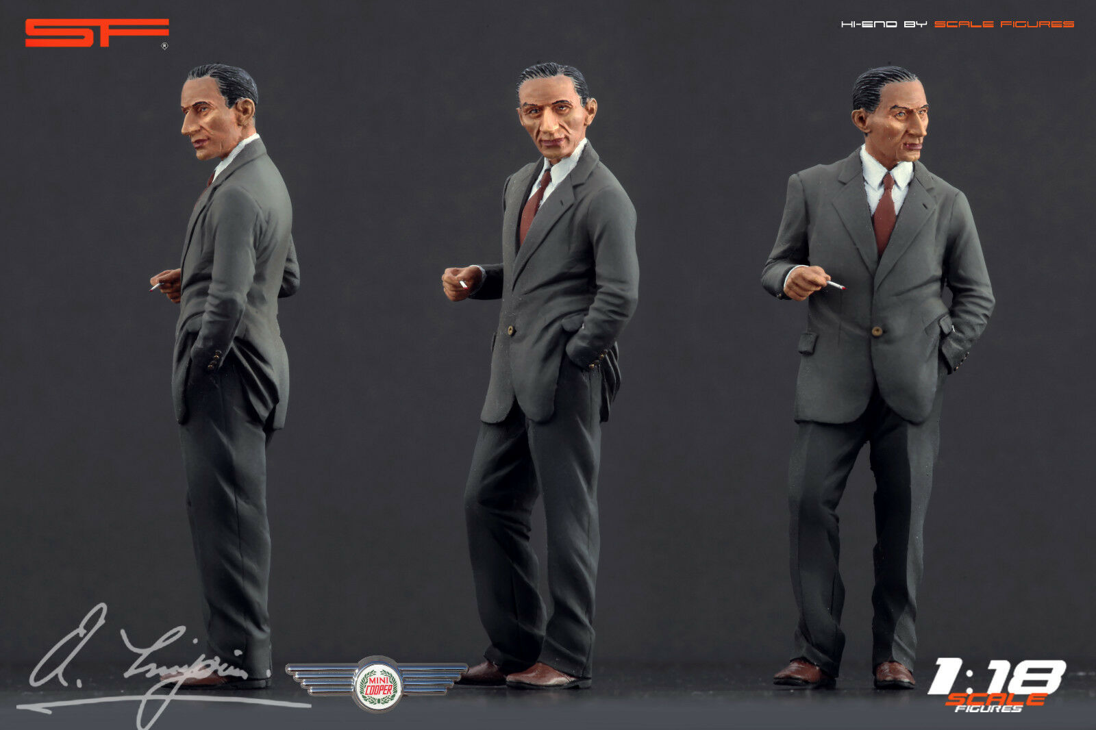 1 18 Alec Issigonis ( mini designer )VERY RARE    figurine, painted, NO CAR