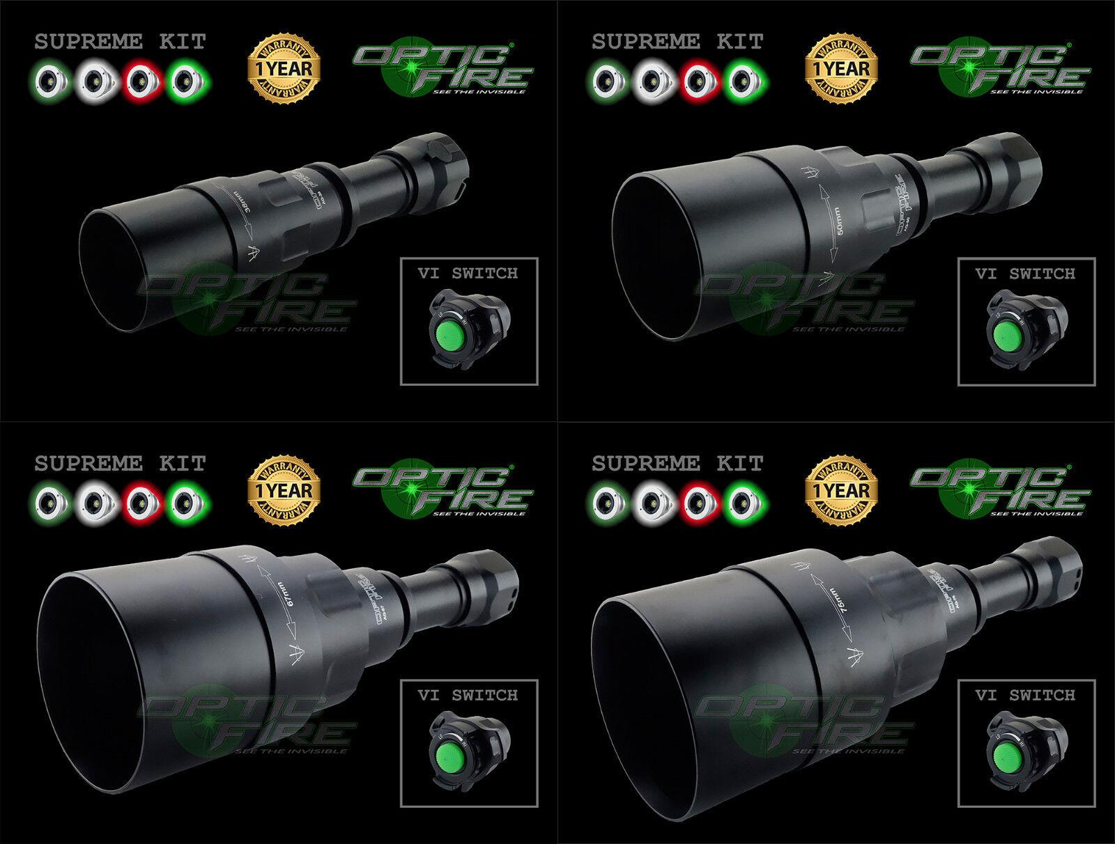 Opticfire ® AG-VI 4 LED de alta potencia Luz Lámpara Antorcha Suprema De Caza Lamping Kit