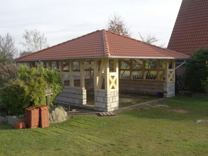 Fachwerk Garage - Köln, Walmdach KVH 6,95 x 7,42 m als Bausatz