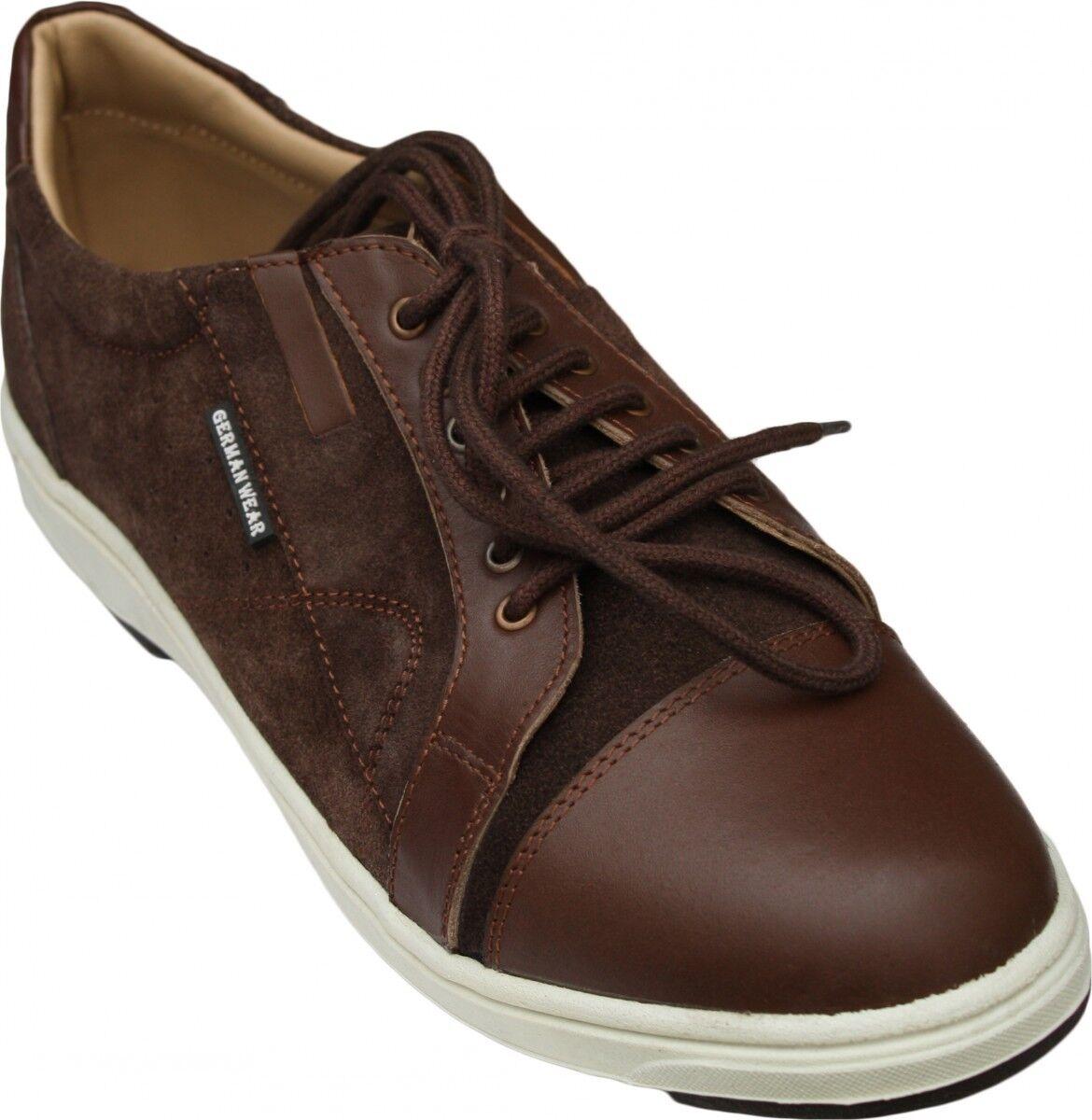 German wear, scarpe da ginnastica pelle scarpe da ginnastica in pelle scamosciata Marroneee | Qualità Superiore  | Sig/Sig Ra Scarpa