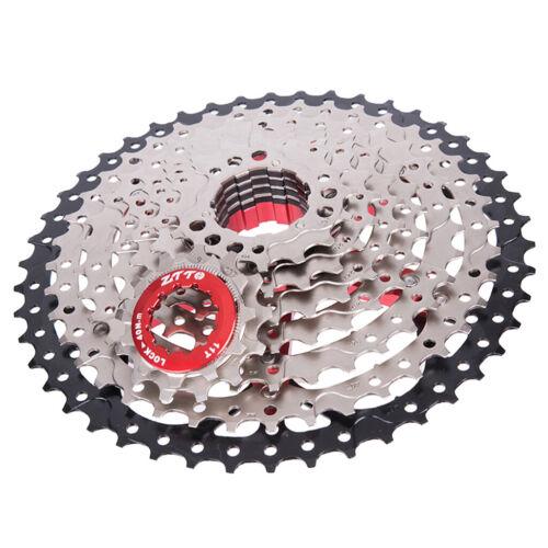 9 Fach Kassette Schraubkranz mit Freilauf 11-46T MTB Kassette für Fahrrad