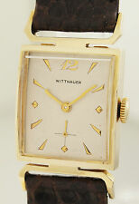 WITTNAUER NEW YORK - ART DECO DESIGN ARMBANDUHR IN 14ct GOLD -1940er JAHRE