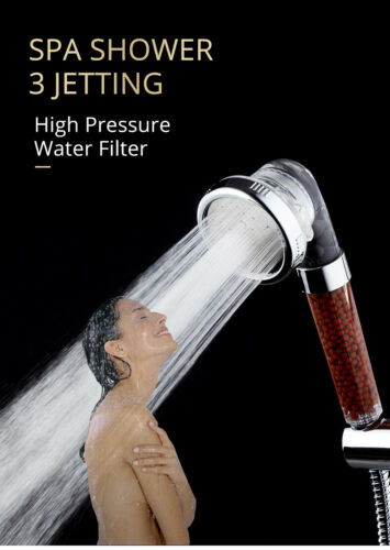 High-Pressure Water Saving  Cleansing Mineral Spa Shower Head