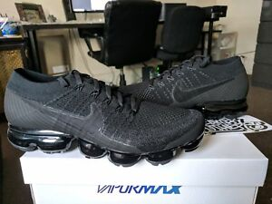 0102693aa988 Nike Air Vapormax Flyknit Triple Black Noir 2.0 Anthracite 849558 ...