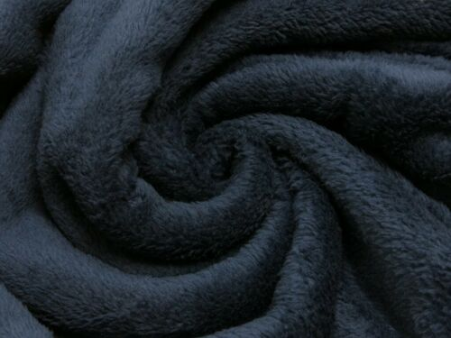 REST 80 cm Soft double Fleece kuschelig marine dunkelblau