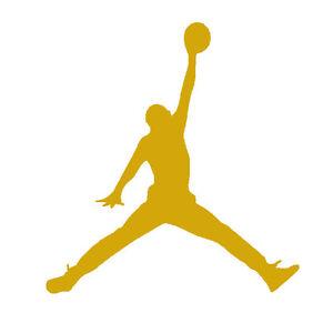 gold air jordan jumpman logo vinyl decals stickers auto car window rh ebay com jordan logo vector jordan logo images