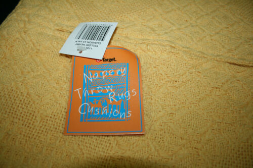 1-6 CUSHION COVERS 45cm COTTON WAFFLE EGG YOLK YELLOW FRESH COOL BEACH DECOR