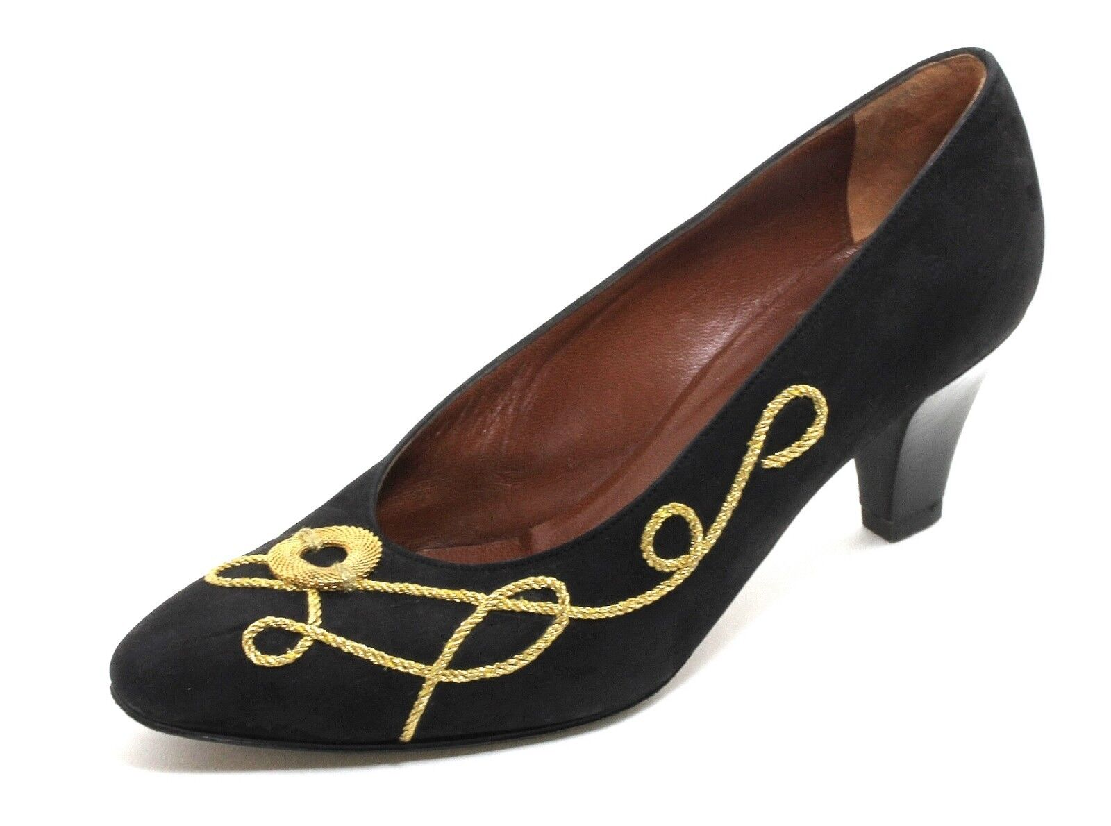 Elegant Vintage Heels Pumps Damenschuh Leder Gold Office Heels Vintage Barbara Boccaccini 36,5 2d7840