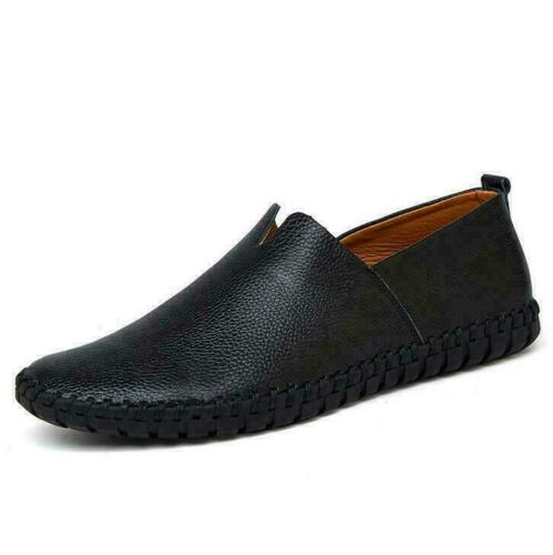 Men/'s Casual Loafers Breatheble Anti-skid Genuine Leather Slip On Driving Shoes
