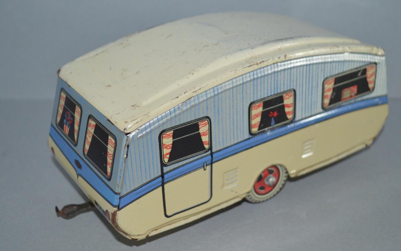 Antiguo Hojalata Touring caravan-Gran Bretaña.