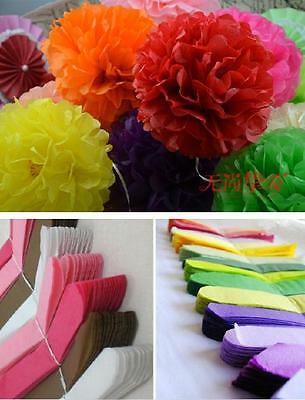 "Multi-color Paper POMPOMS Flower Balls Home Decor Party Wedding 8"" New Design"