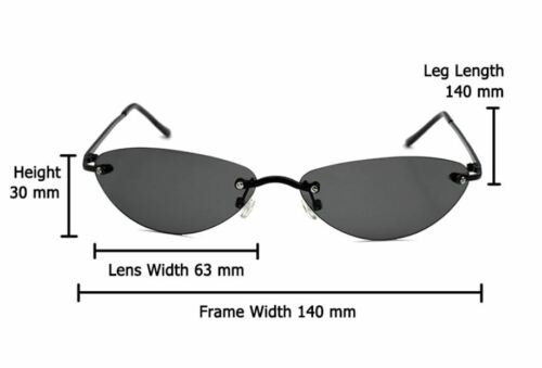 The Matrix Neo Style Polarized Men/'s Sunglasses UV Rimless 2 SIZES Fashion 2020