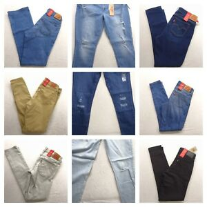 Levi-039-s-Womens-711-Skinny-Stretch-Denim-Jeans-Pants-All-Sizes-Colors-New-Nwt