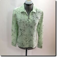 Tommy Bahama Green and Black Long Sleeve Top 2